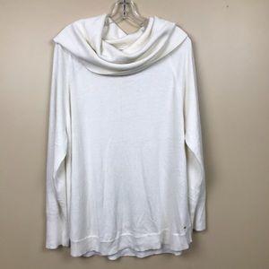 Tommy Hilfiger White Cream Cowl Neck Sweater Tunic